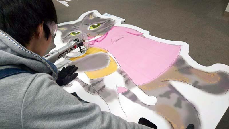 猫住宅のPR看板