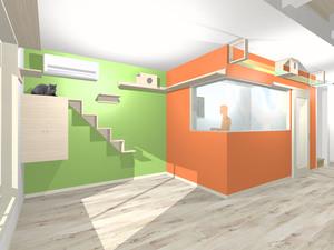 猫仕様のキッチン完成図