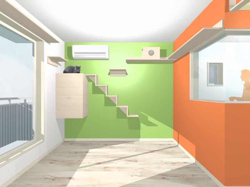 完成イメージパース(猫階段)